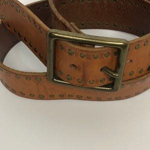 Banana Republic Tan Leather Belt with Brass buckle